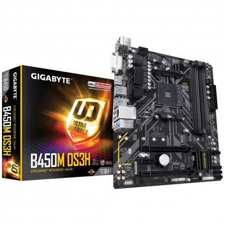 Motherboard Micro-ATX Gigabyte B450M DS3H