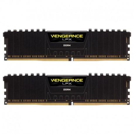 Memória RAM Corsair 16GB Vengeance LPX (2x 8GB) DDR4 3000MHz PC4-24000 CL15 Black - CMK16GX4M2B3000C15
