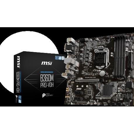 Motherboard MSI B360M PRO-VDH LGA1151 4DDR4 1M.2 6ST6 D-SUB DVI-D H