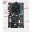 Motherboard Mining HM65 Com CPU Celeron até 8 Gráficas
