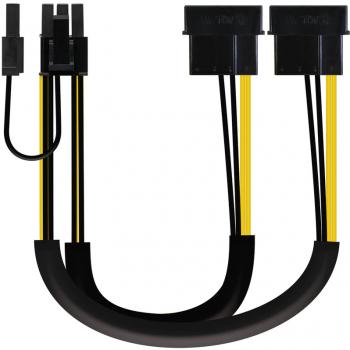 Cabo Placa Gráfica Splitter Y 2x Molex - PCI-e 6+2 pin