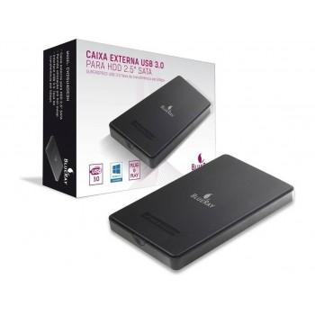 CAIXA EXTERNA P/ HDD 2.5 INT. SATA - EXT. USB3.1 - BLUERAY