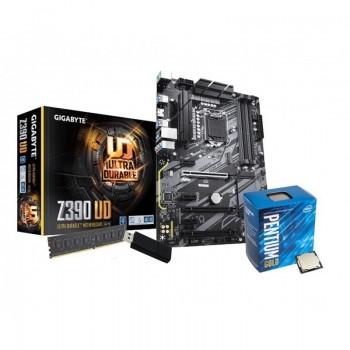 Mining Kit 1151 - LINUX: Gigabyte Z390 UD | Intel Pentium G5400 | 4GB DDR4 | Pen USB 32Gb