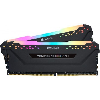 Memória RAM Corsair 16GB Vengeance RGB Pro 2x 8GB DDR4 3200MHz CL16 Black - CMW16GX4M2C3200C16