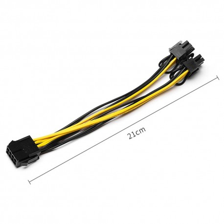 Splitter em Y PCI-E 6pin para 2x 6+2pin