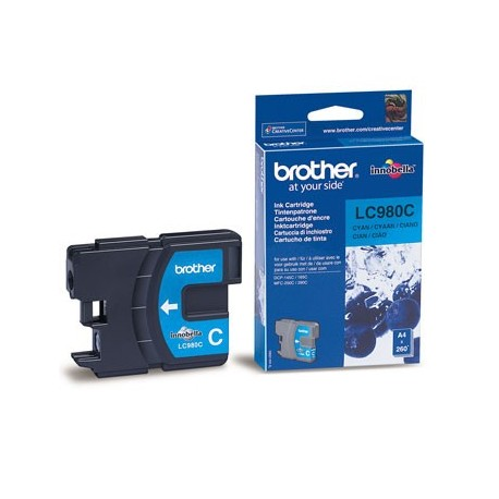 Tinteiro Original Brother LC980 Azul