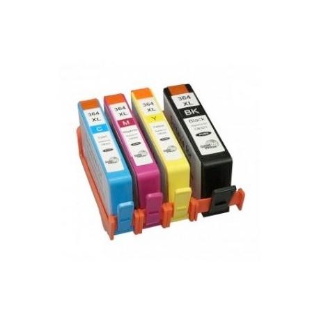 Pack 4 Tinteiros Compatíveis HP 364 XL BK-C-M-Y (Com Chip)
