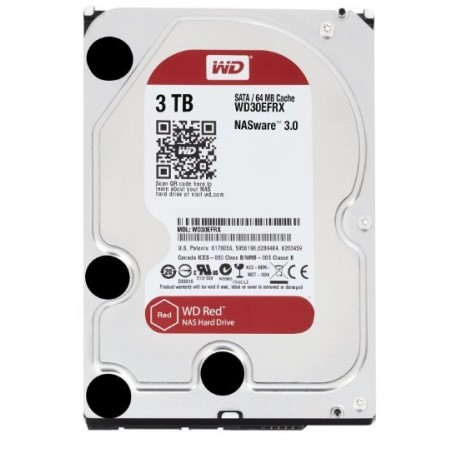Disco Rígido 3TB WD RED 64mb cache SATA 6gb/s 3.5""