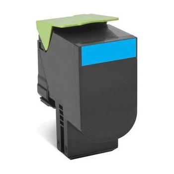 Toner compatível Lexmark 802SC Azul