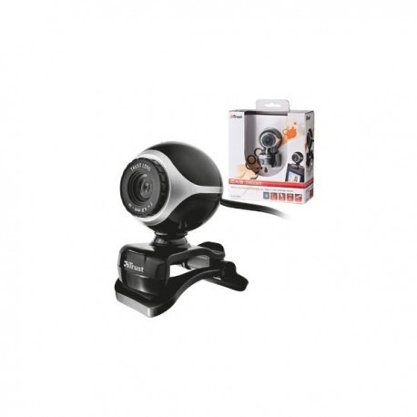WebCam TRUST Exis Webcam - Black/Silver - 17003