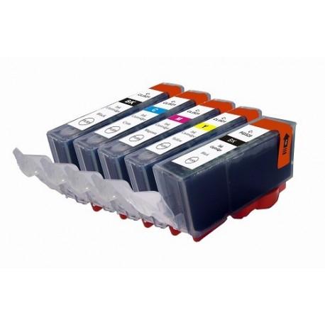 Multipack Tinteiros Compatíveis Canon PGI-520BK / CLI-521 BK-C-M-Y