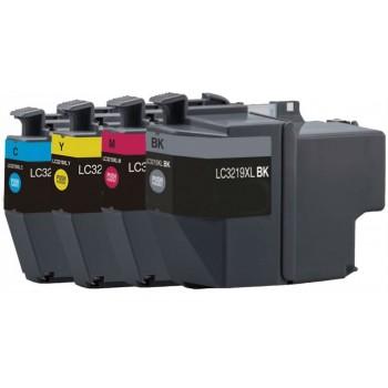Pack 4 Tinteiros Compatível Brother LC3217 / LC3219 XL (CMYK)