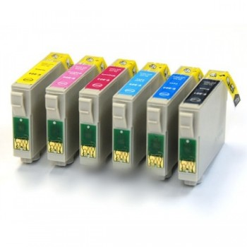 Pack 6 Compatíveis Epson T0801/2/3/4/5/6