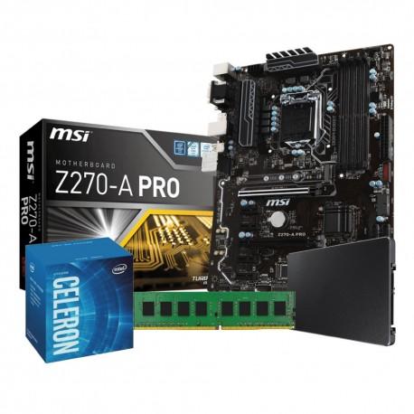 Mining Pro Kit 1151 Celeron: MSI Z20A-PRO | Intel Celeron G3930 | 4GB DDR4 | 120Gb SSD
