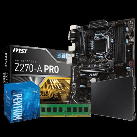 Mining Pro Kit Pentium 1151: MSI Z270A-PRO | Intel G4400 | 4GB DDR4 | SSD 120GB
