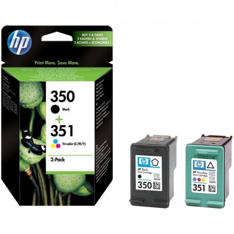 Pack HP 350/351 (SD412EE) Preto + Tricolor