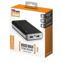 PowerBank TRUST Primo 8800 Portable Charger Black - 21227
