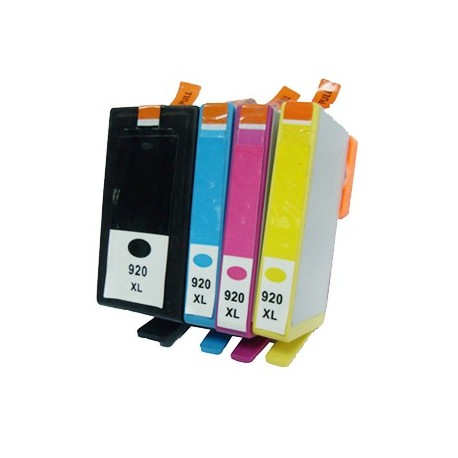 Pack 4 Tinteiros Compatíveis HP 920 XL BK-C-M-Y
