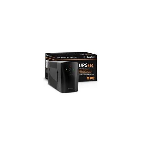 UPS EUROTECH SMART UPS 850VA / 510W 1USB 2RJ45 2SCHUKO - Q3