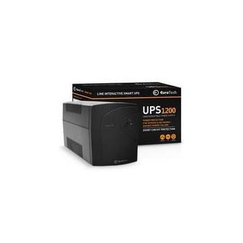 UPS EUROTECH SMART UPS 1200VA / 720W 1USB 2RJ45 3SCHUKO - Q2