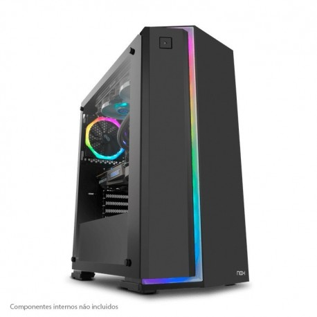 Caixa ATX Nox Infinity Neon RGB Preto Vidro Temperado