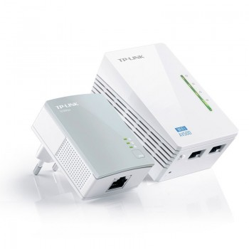 Kit 2 Adaptadores PowerLine TP-Link 500Mbps c/Wireless  N 300Mbps
