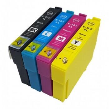 Conjunto 4 Tinteiros Epson 502 XL Compatíveis