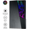 """Disco Externo 2.5"""" Asus FX 2TB Aura Sync RGB USB 3.1 Preto"""