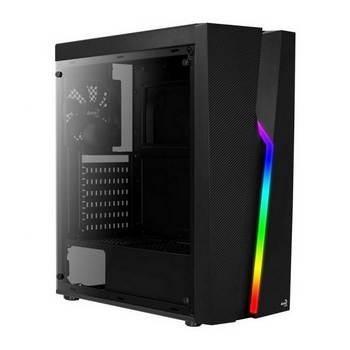 Caixa Aerocool Bolt RGB USB 3.0 com Janela Black